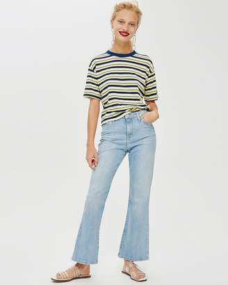 Topshop Bleach Dree Cropped Jeans