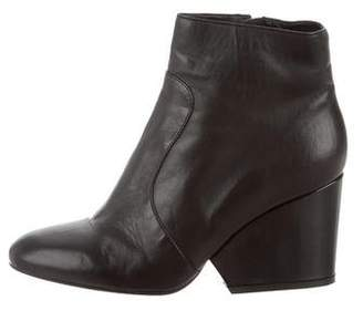 Robert Clergerie Clergerie Paris Leather Round-Toe Ankle Boots