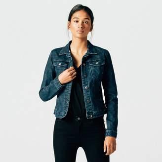 DSTLD Womens Denim Jacket in Dark Vintage