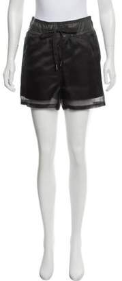 Brunello Cucinelli Silk Mini Shorts Grey Silk Mini Shorts