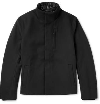 James Perse Cotton and Virgin Wool-Blend Drill Jacket - Black