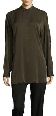 Helmut Lang Solid Long-Sleeve Top