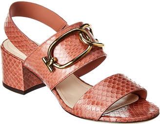Tod's Snakeskin Sandal