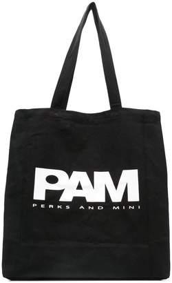 Perks And Mini Pam logo shopper tote