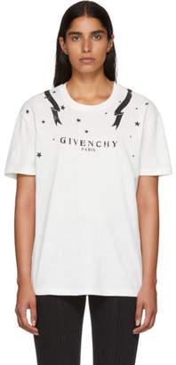 Givenchy White Gemini Logo T-Shirt