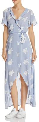 DAY Birger et Mikkelsen Lost and Wander Iris Embroidered Wrap Maxi Dress