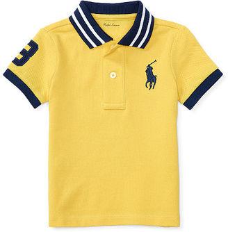 Ralph Lauren Baby Boy Cotton Mesh Polo Shirt $29.50 thestylecure.com