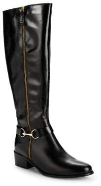 Carvela Waffle Buckle Tall Leather Boots