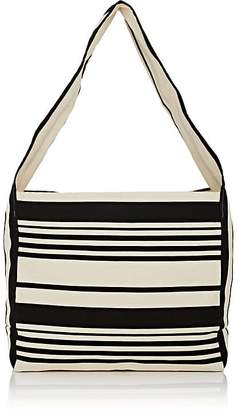 Barneys New York WOMEN'S STRIPED CANVAS HOBO BAG