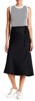 A.L.C. Ivy Satin Midi Skirt