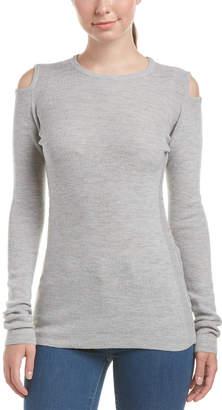 Current/Elliott The Melange Cutout Wool-Blend Sweater