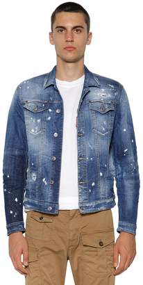 DSQUARED2 Faded Cotton Denim Jacket
