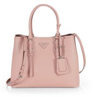 Prada Small Saffiano Double Bag $2,750 thestylecure.com