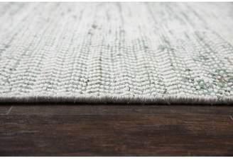 Blue Area Latitude Run Killington Hand-Woven Wool Rug