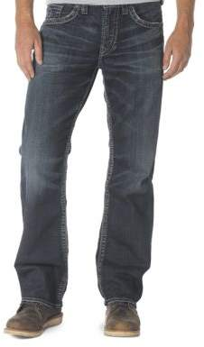 Silver Jeans Co Gordie Loose-Fit Straight-Leg Jeans