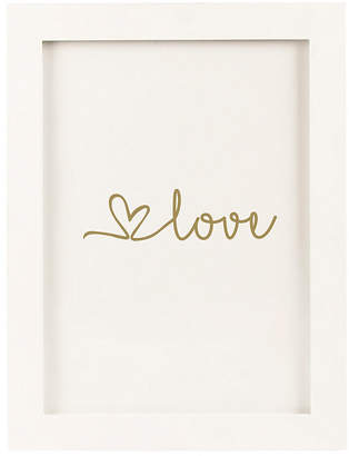 Cathy's Concepts Gold Love Heart Drop Guestbook