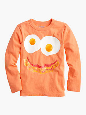 J.Crew Boys Eggs and Bacon T-Shirt, Neon Coral