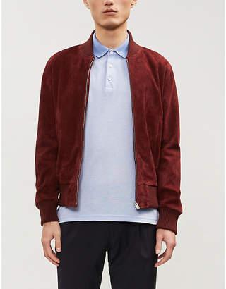 Canali Logo-embroidered cotton-piqué polo shirt