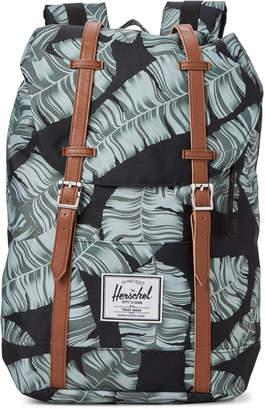 Herschel Black Palm Retreat Laptop Backpack