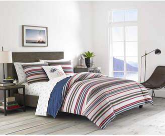 Eddie Bauer Brewster Stripe Navy Full/Queen Comforter Set Bedding