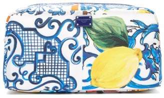 Dolce & Gabbana Majolica Print Make Up Bag - Womens - Blue White