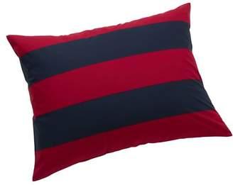 Pottery Barn Teen Rugby Stripe Sham, Standard, Navy/ Red