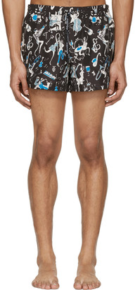 Dolce & Gabbana Black Jazz Musician Swim Shorts $445 thestylecure.com