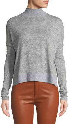Rag & Bone Bowery Dropped-Shoulder Button-Back Turtleneck Sweater
