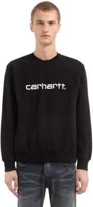 Carhartt Logo Printed Cotton Blend Sweatshirt