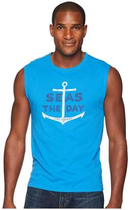 Life is Good Seas The Day Smooth Muscle Tee Men's Sleeveless