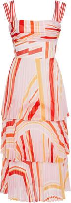Rachel Gilbert Soekie Pleated Midi Dress