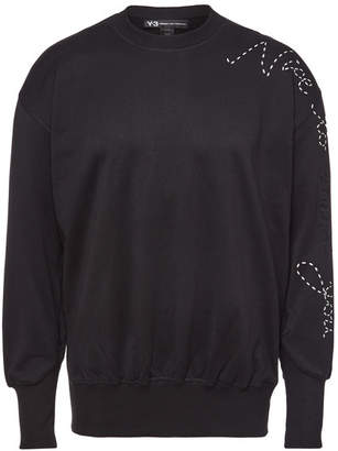 Y-3 Embroidered Cotton Sweatshirt