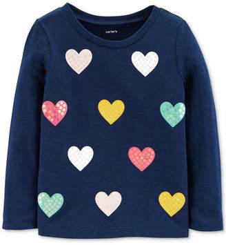 Carter's Toddler Girls Heart-Print Cotton Top