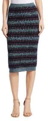 Carven Textured Wool-Cotton Midi Skirt