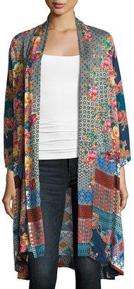 Johnny Was Muda Mix-Print Georgette Kimono, Plus Size $300 thestylecure.com