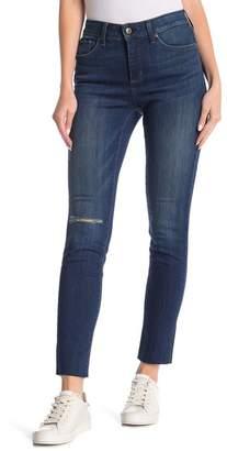 NYDJ Ami Distressed Raw Hem Skinny Jeans