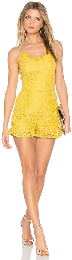 J.O.A. Frill Bottom Detail Lace Romper