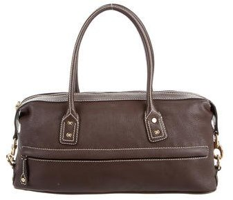 CelineCéline Grained Leather Handle Bag