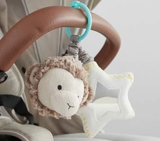 Pottery Barn Kids Preppy Plush Stroller Clip - Monkey