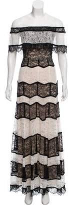 Alice + Olivia Off-The-Shoulder Maxi Dress