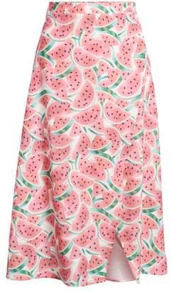 Show Me Your Mumu Flirt Midi Skirt