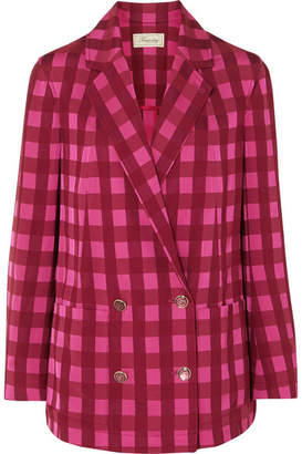 Temperley London Stirling Checked Jacquard Blazer - Bright pink