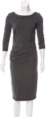Blumarine Embellished Wool-Blend Dress