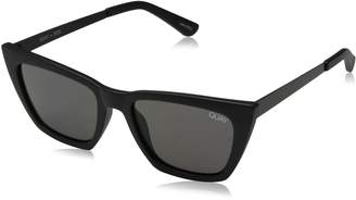 Quay Women's Don'T At Me QC-000305-BLK/SMK Cat Eye Sunglasses