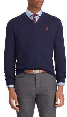 Polo Ralph Lauren Washable Merino Wool V-Neck Sweater