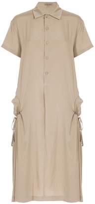 Bottega Veneta Mist Drawstring Pocket Dress
