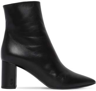 Saint Laurent 70mm Betty Leather Ankle Boots