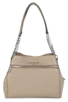 Bouquet Leather Triple Entry Tote