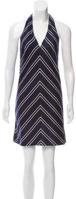 Burberry Striped Halter Dress