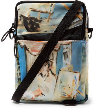 Off-White Off White Printed Shell Messenger Bag - Men - Blue